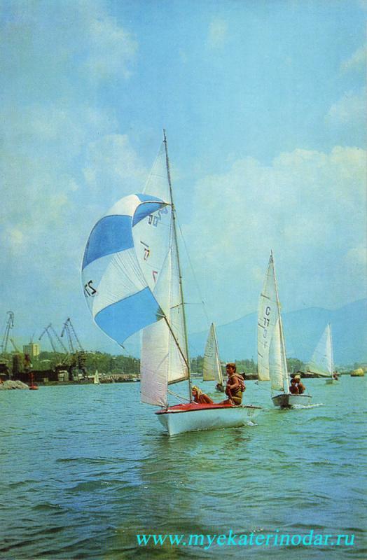 Туапсе. Яхты на море, 1976 год.